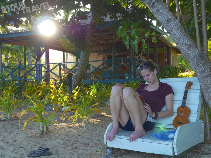 Anna Writing After a Uke Session
