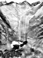 Waterfall at Fox Glacier