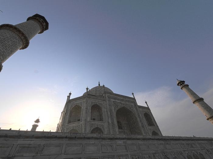 Close Wide Taj Sunrise HDR