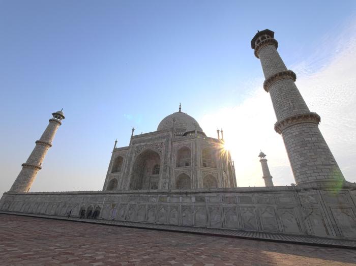 Close Wide Taj Sunrise Side Front HDR