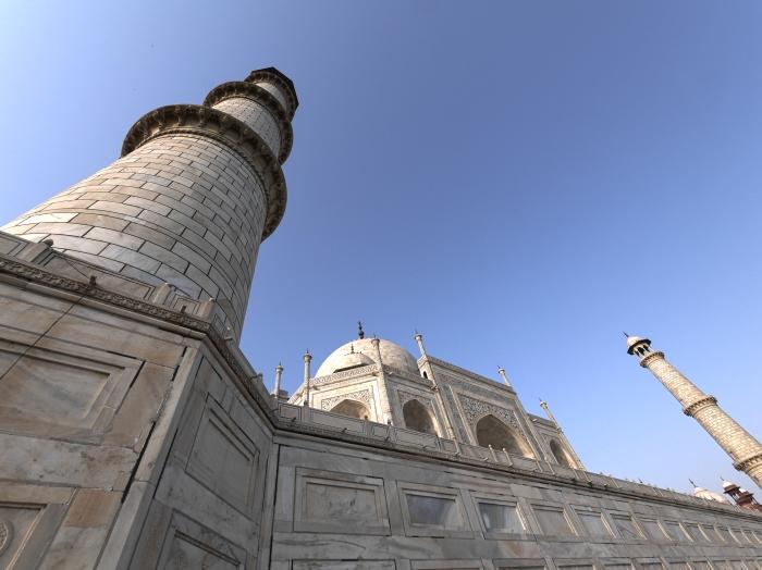 Taj Mahal Wide Close HDR